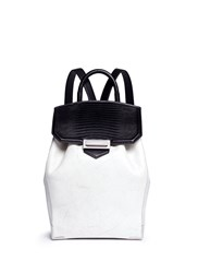 Alexander Wang 'Prisma' Contrast Effect Leather Backpack Multi Colour Animal Print