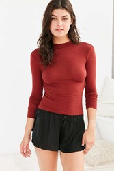 Out From Under Maggie Mae Mock Neck Top Rust