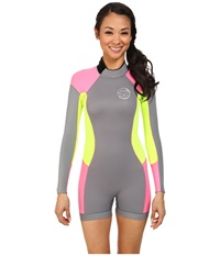 Rip Curl Dawn Patrol L S Springsuit Grey Women's Wetsuits One Piece Gray