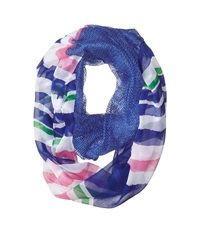 Steve Madden Stripe It Up Half And Half Infinity Scarf Royal Scarves Navy