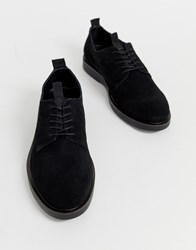 Hudson H By Barnstable Derby Shoes In Black Suede