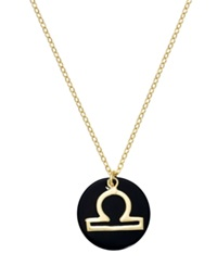 Studio Silver Libra Pendant Necklace In 18K Gold Over Sterling Silver