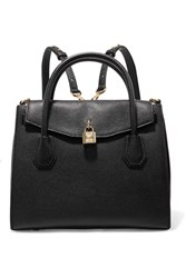 Michael Michael Kors Mercer Convertible Textured Leather Backpack Black