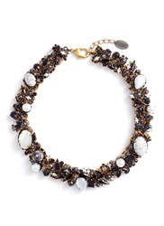 Erickson Beamon 'Dark Shadows' Swarovski Crystal Choker Metallic