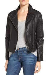 Bb Dakota Women's Stafford Washed Leather Jacket Black