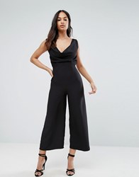 Asos Jumpsuit With Cowl Neck Black