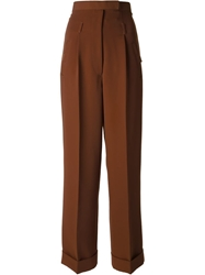 Jean Paul Gaultier Vault High Waist Trousers Brown
