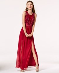 Amy Byer Bcx Juniors' Sequined Bodice Gown A Macy's Exclusive Style Merlot