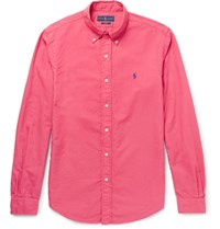 Polo Ralph Lauren Slim Fit Button Down Collar Cotton Oxford Shirt Pink