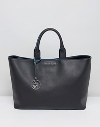 Armani Jeans Simple Tote Bag 002200 Black Blue Multi