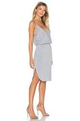 Lanston Surplice Cami Dress Light Gray