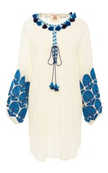 Figue Embroidered Coco Dress White