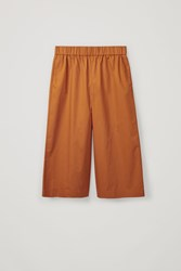 Cos Cropped Wide Leg Trousers Yellow