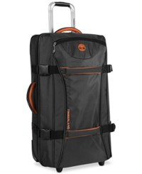Timberland Twin Mountain 26 Wheeled Duffel Bag Black Burnt Orange