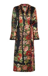 For Restless Sleepers Dolos Printed Wrap Dress Floral