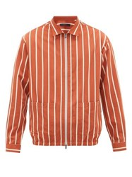 The Gigi Akiko Striped Poplin Jacket Orange Multi