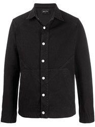 Andrea Ya'aqov Plain Denim Jacket Black
