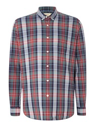 T.M.Lewin Check Button Down Shirt Red