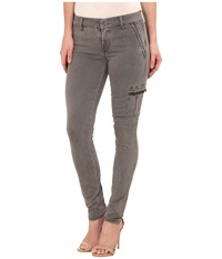 Level 99 Liza Mid Rise Skinny Trousers In Grassy Grey Grassy Grey Women's Jeans Gray