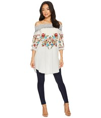 Scully Augustine Embroidered Tunic Blue Clothing
