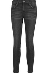 Current Elliott The Stiletto Mid Rise Skinny Jeans Black