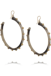 Ashley Pittman Duara Horn And Gold Tone Earrings
