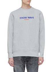 Know Wave 'Archival' Logo Embroidered Sweatshirt Grey
