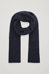 Cos Speckled Cashmere Scarf Blue