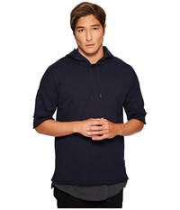Publish Kaiden Hooded Short Sleeve Shirt Navy Men's Short Sleeve Pullover