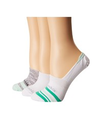 Columbia Space Dye Striped Liner Socks 3 Pack White Mint Low Cut Socks Shoes