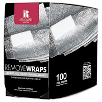 Red Carpet Manicure Led Nail Polish Remover Wraps X 100