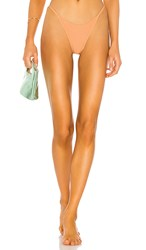 L Space Jay Bitsy Bikini Bottom In Peach. Chestnut