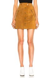 Maison Martin Margiela Crust Leather Mini Skirt In Brown Neutrals Brown Neutrals