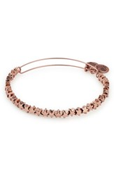 Alex And Ani Star Adjustable Wire Bangle Rose Gold