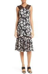 Tracy Reese Women's Mixed Media Midi Dress