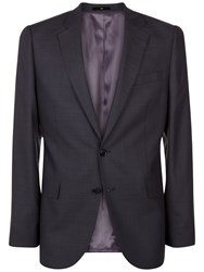 Jaeger Wool Pick And Pick Regular Suit Jacket Charcoal
