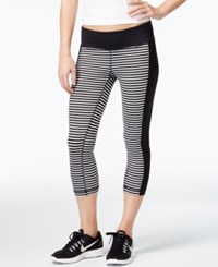 Ideology Striped Cropped Leggings Only At Macy's