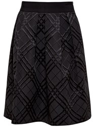 Ted Baker Check Bow Full Skirt Black