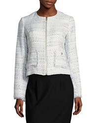 Karl Lagerfeld Textured Zipper Jacket Multicolor