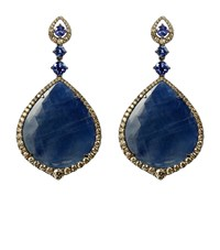 Annoushka Sapphire White Gold Earrings Female Blue
