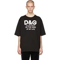 Dolce And Gabbana Black 'King Of My Life' T Shirt