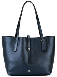 Coach Large Double Straps Tote Blue