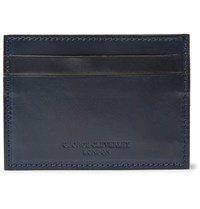 George Cleverley Horween Shell Cordovan Leather Cardholder Midnight Blue