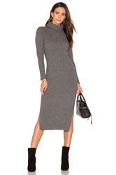 Alice Olivia Gwen Rib Midi Dress Grey