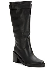 Helmut Lang Slouchy Leather Boots Black