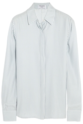 Frame Denim Le Classic Striped Silk Charmeuse Shirt