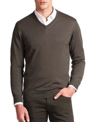 Armani Collezioni Virgin Wool V Neck Sweater