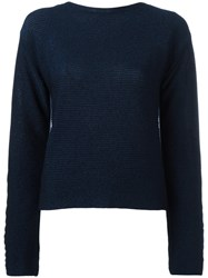 Thierry Mugler Cropped Jumper Blue