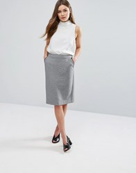 New Look Pencil Midi Skirt Black Pattern