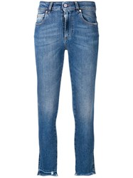 Red Valentino Skinny Fit Mid Rise Jeans Blue